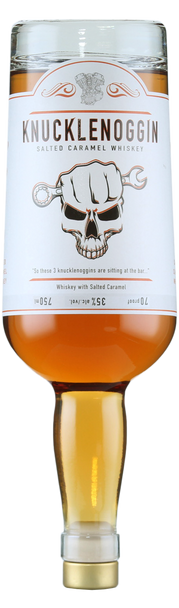 Knucklenoggin Salted Caramel Whisky 750ml (upside down)