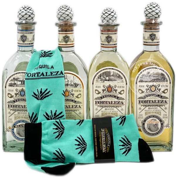 Fortaleza Tequila Full Expression Bottle Combo + Free Socks