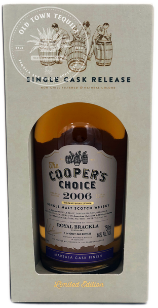 The Cooper's Choice 2006 Vintage Distillation Limited Edition Single Cask Release Single Malt Scotch Whisky