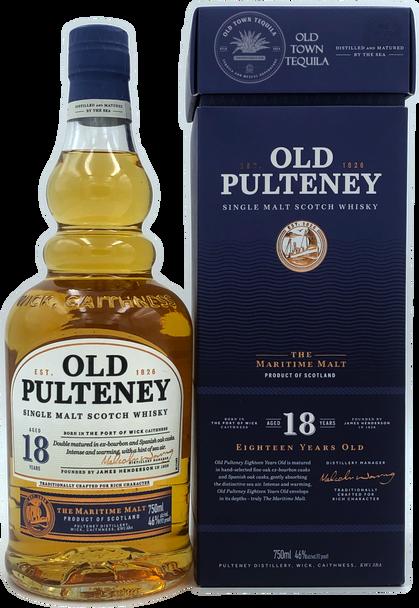 Old Pulteney Single Malt Scotch Whisky Aged 18 Years 750ml
