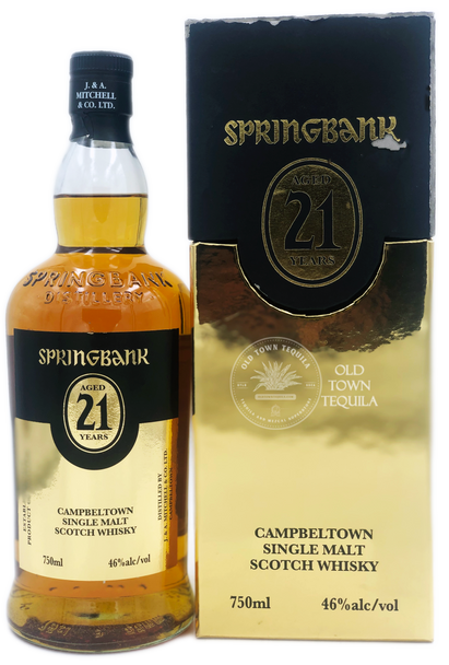 Springbank Campbeltown Single Malt Scotch Whisky Aged 21 Years 750ml