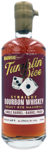 Deadwood Tumblin Dice Straight Bourbon Whiskey Heavy Rye Mashbill 750ml