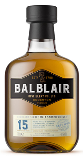 Balblair 15 Year Old Highland Single Malt Scotch Whisky 750ml