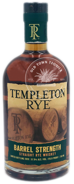 Templeton Rye Barrel Strength Straight Rye Whiskey 750ml