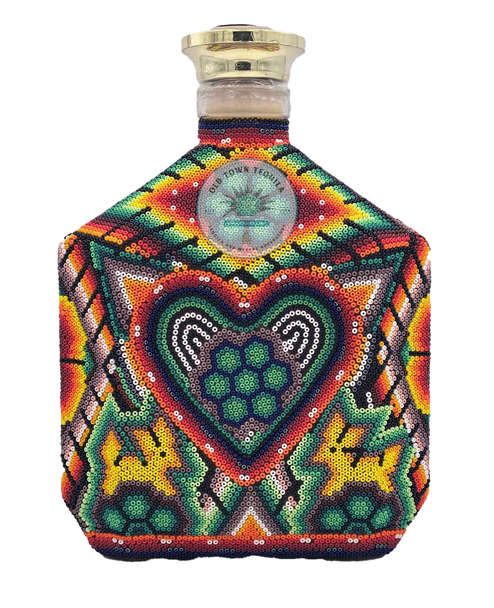 Riqueza Cultural Extra Anejo Chaquira Beads Square bottle Tequila