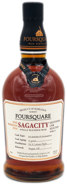 Foursquare Sagacity Single Blended Rum 750ml