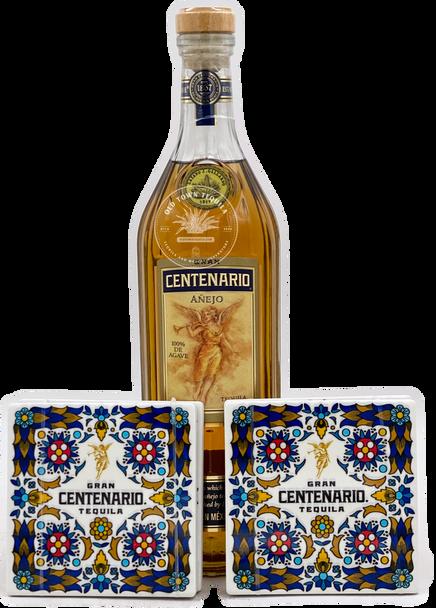 Gran Centenario Tequila Añejo with Four Coasters