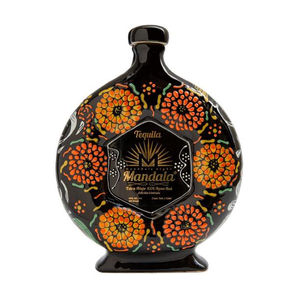 Tequila Mandala Dia de Muertos 2020 Extra Anejo 1 Liter front of bottle