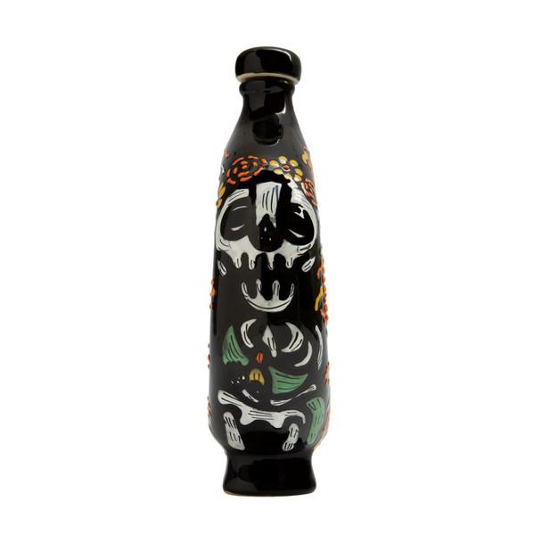 Tequila Mandala Dia de Muertos 2020 Extra Anejo 1 Liter side view 1