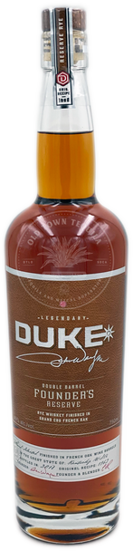 Duke Double Barrel Founder's Reserve Rye Whiskey 750ml