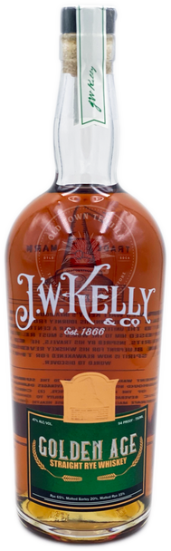 J.W. Kelly Golden Age Straight Rye Whiskey 750ml