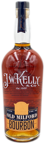 J.W. Kelly Old Milford Straight Bourbon Whiskey 750ml