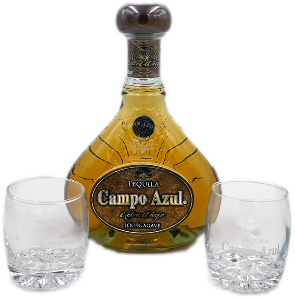 Campo Azul Tequila Extra Añejo Gran Reserva Gift Set