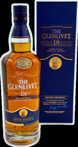 The Glenlivet 18 Years of Age Single Malt Scotch Whisky 750ml