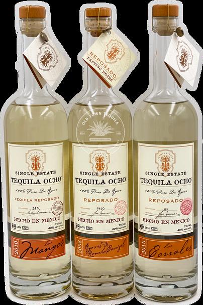Ocho Tequila 3 x 750ml Single Estate Reposado Set