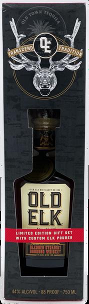Old Elk Blended Straight Bourbon Whiskey Limited Edition Gift Set