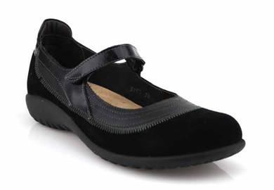 naot kirei black suede combo shoe