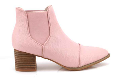walnut kool boot pink side