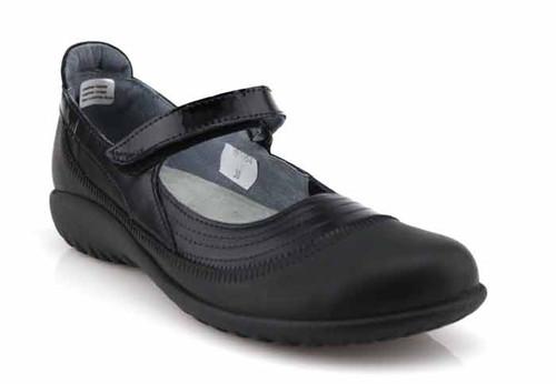 naot kirei black leather shoe