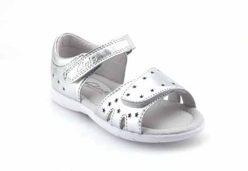 clarks shimmery silver