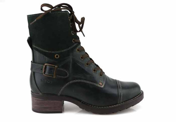 taos crave teal boot outside