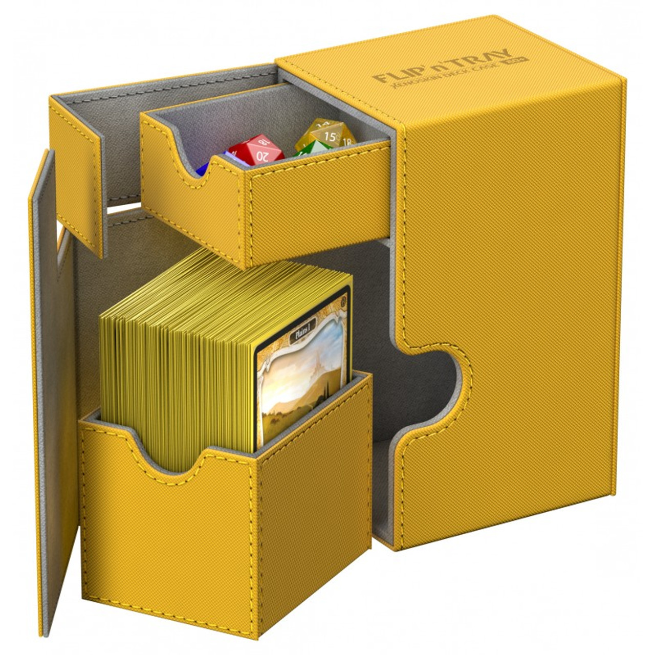 ULTIMATE GUARD FLIP n TRAY GREY 80 XENOSKIN DECK CASE Card Box Standard Size