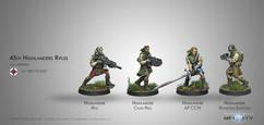Infinity: Ariadna 45th Highlander Rifles Galwegian