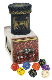 The Dark Eye RPG: Dice Cup w/ 8 D20's