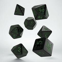 Call of Cthulhu Dice Set - Green & Black (7ct)