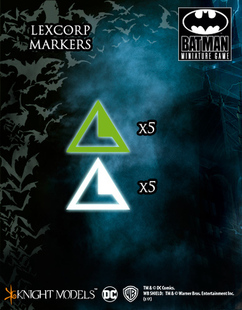 Batman Miniature Game: Lexcorp Markers (On Sale)