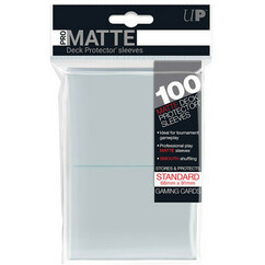 Pro-Matte Standard Size Deck Protector Sleeves: Clear (100ct)
