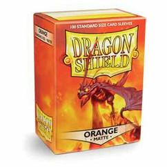 Dragon Shield Orange Matte Standard Size Card Sleeves (100ct)