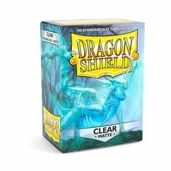 Dragon Shield Matte Clear Standard Size Card Sleeves (100ct)