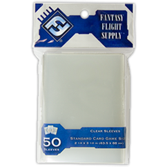 Standard Card Game Size Sleeves: Clear (50)