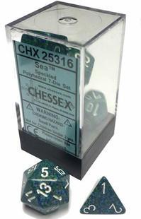 Chessex Dice: Speckled - Polyhedral Set Sea (7)