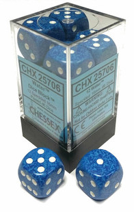 Chessex Dice: Speckled 16mm D6 Water (12)