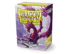 Dragon Shield: Matte Clear Purple Standard Size Card Sleeves (100ct)