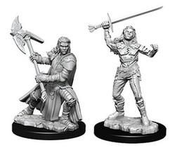 Dungeons & Dragons: Nolzur's Marvelous Unpainted Miniatures - Female Half-Orc Fighter
