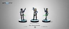 Infinity: ALEPH Dart, Optimate Huntress (Submachine gun, Grenades)