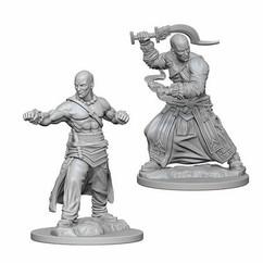 Pathfinder Battles Deep Cuts Unpainted Miniatures: Human Male Monk