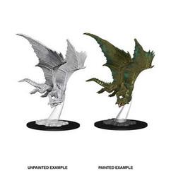 Dungeons & Dragons: Nolzur's Marvelous Unpainted Miniatures: Young Bronze Dragon