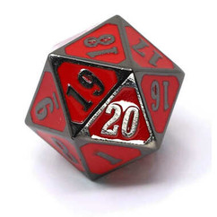 Roll Down 25mm D20 Counter - Sinister Red (PREORDER)