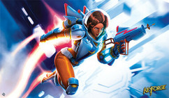 KeyForge: Tactical Officer Moon Playmat
