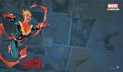 Marvel Champions LCG: Captain Marvel Game Mat