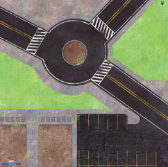 Marvel: Crisis Protocol - Roundabout Knockout Game Mat