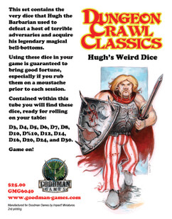 Dungeon Crawl Classics RPG: Hugh's Weird Dice (2nd Printing)