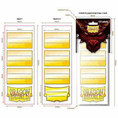 Dragon Shield: Label Sheets Pack #1 (PREORDER)