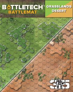 Battletech: Battlemat - Desert / Grasslands A