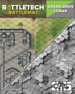 Battletech: Battlemat - Lunar / Grasslands B