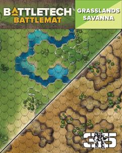 Battletech: Battlemat - Savanna / Grasslands D